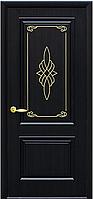 """Двери межкомнатные глухие ПВХ с гравировкой GOLD """"ВИЛЛА"""""""
