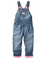 Комбинезон на флисе джинсовый Oshkosh для девочки