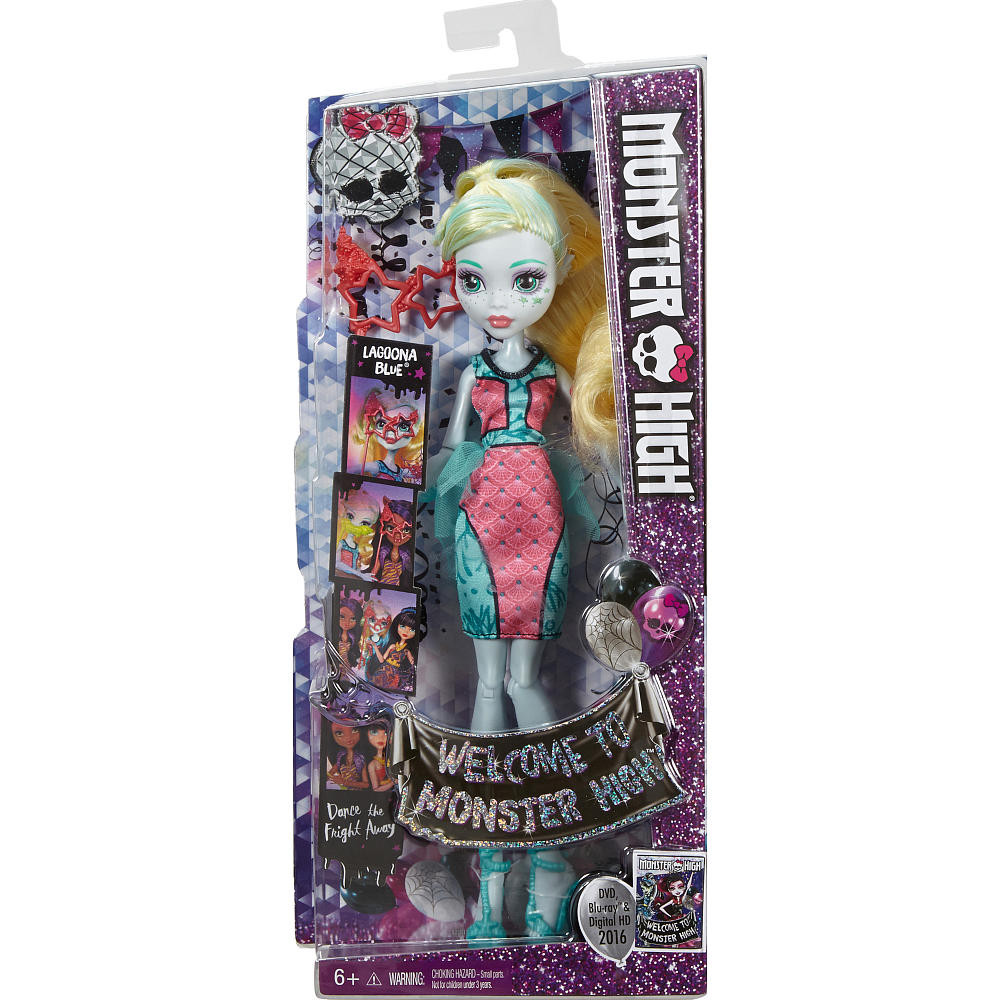 Кукла Лагуна Блю Monster High Welcome to Monster High Dance the Fright Away Doll with DVD  Lagoona Blue