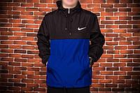 Анорак, ветровка, куртка весна/осень! Nike черный+синий