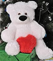 Плюшевый медведь Бублик  43см с сердцем 15см Б1-8 и С19-2 (мишка игрушка )