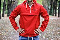 Анорак, ветровка, куртка весна/осень! Nike красный