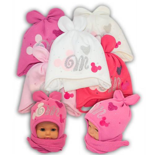 Детский комплект - шапка и шарф для девочки, Ambra (Польша), утеплитель Iso Soft, P20