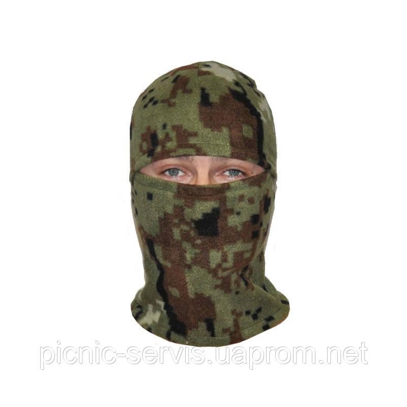 Балаклава флис камуфляж Пиксель зимняя маска
