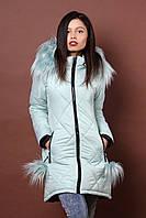 Зимняя женская молодежная куртка. Код К-79-36-17. Цвет мятный.