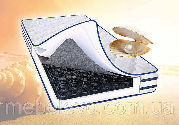 Односпальный матрас Перлина 3D/  Жемчужина 3D 80х190 Світ Меблів h19  жаккард боннель 110кг, фото 2