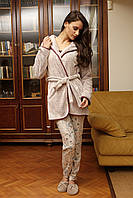 Женская пижама и теплый халат Hays 6037. Коллекция одежды для дома HAYS Зима 2017