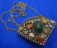 Аромакулон  бронзовый с камнями Этно