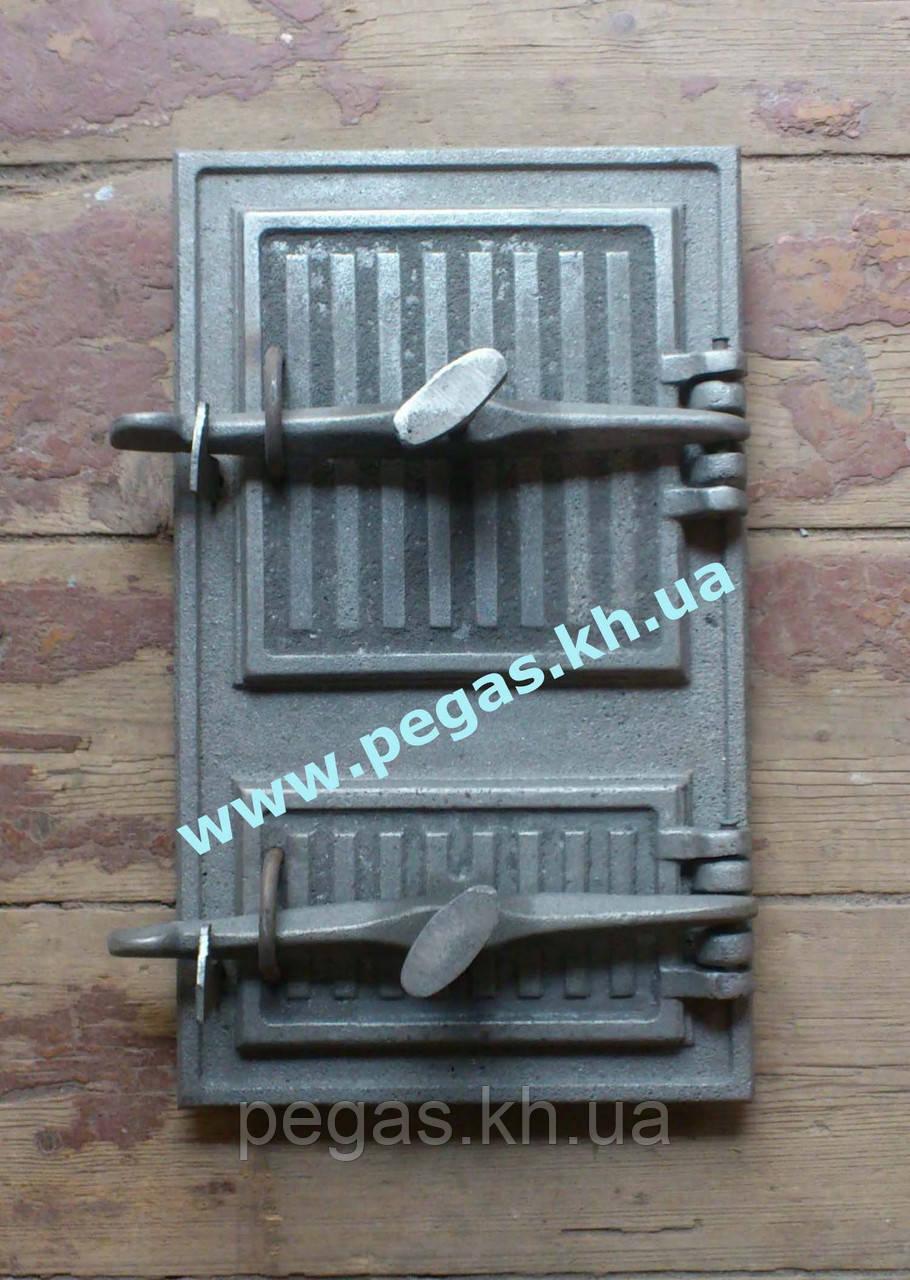Дверка чугунная печная 240х400 мм печи, грубу, барбекю