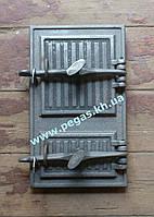 Дверка чугунная печная 240х400 мм печи, грубу, барбекю, фото 1