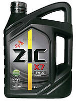 Моторное масло синтетика ZIC X7 LS 5w30 4л.
