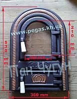 Дверка чугунная с жаростойким стеклом Румынская №11