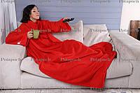 Плед флисовый с рукавами 200х150см Красный