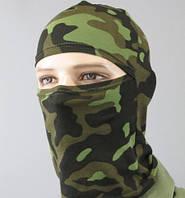Балаклава легкая лайкра+хб эластичная тонкая маска камуфляж
