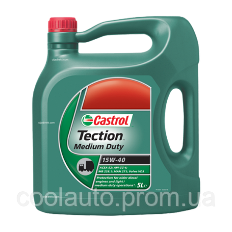 Моторное масло Castrol Tection Medium Duty15W-40 5л, фото 2