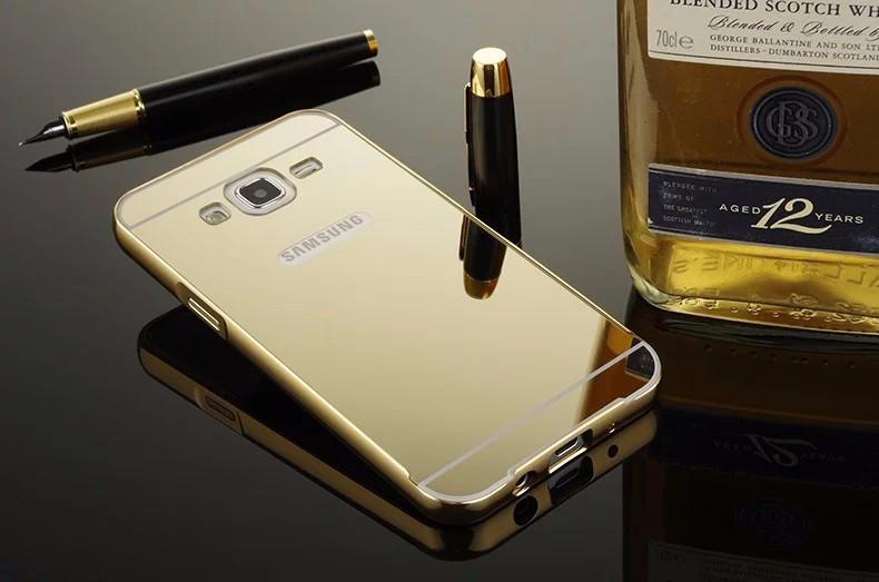 Чехол для Galaxy J5 2015 / Samsung J500 зеркальный золотистый (уцененный товар)