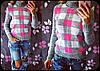 """Женский стильный вязаные свитер """"Клетка"""" , в расцветках, фото 2"""