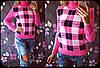 """Женский стильный вязаные свитер """"Клетка"""" , в расцветках, фото 4"""