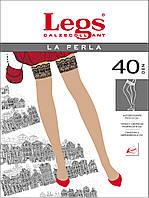 Классические чулки на силиконе  La Perla 40 Den
