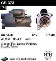 Стартер Peugeot Citroen Fiat Lancia Suzuki TALBOT 1.6  1.9  2.2 (d, td, hdi) /1, 7кВт z10-11/ CS373