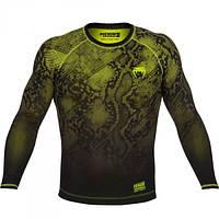 Оригинальная Компрессионная футболка Venum Fusion  M, Черный с зеленым