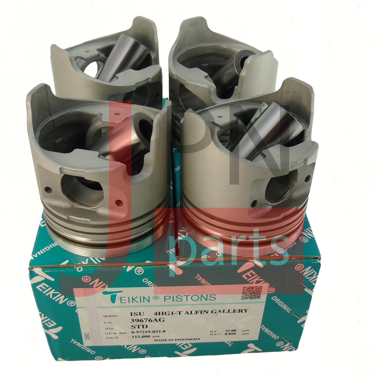 Поршень двигателя 4HG1T E2 (Комплект 4шт) (8972190320/8972190321/8982097450) TEIKIN