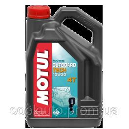 Моторное масло Motul Outboard Tech 4T 10W-30 5л, фото 2