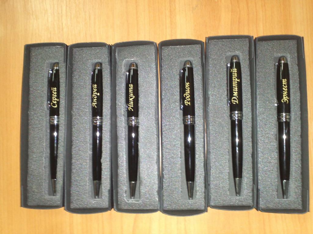 именные металлические ручки в футляре
