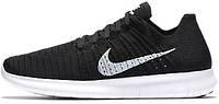 Мужские кроссовки Nike Free Run Flyknit Black, найк, фри ран