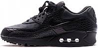 Женские кроссовки Nike Air Max 90 'Triple Black Croc', найк, айр макс