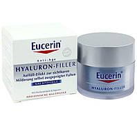 Ночной крем Eucerin Hyaluron-Filler (Эуцерин Гиалурон Филлер) против морщин, банка 50 мл.
