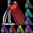 Светодиодная насадка для душа турбина LED Shower Bradex с подсветкой 4 цветовых режима, фото 2