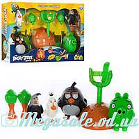 Настольная игра с катапультой/рогаткой Angry Birds Movie: 4 фигурки + звук/свет