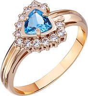 Кольцо золотое с топазом Swiss , фото 1