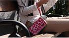 Компактный дорожный органайзер для документов (розовый леопард), фото 4