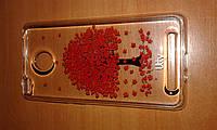 Чехол Utty TPU Flower case Xiaomi Redmi 3/3S красное дерево
