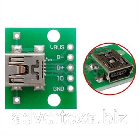 Конвертер Mini USB в DIP адаптер 5pin мама разъем
