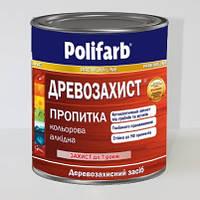 Дерево-защитная пропитка POLIFARB орех темный 0,7кг