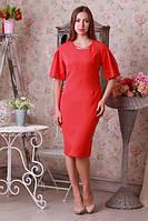 Модное коралловое платье