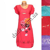 Женская котоновая ночная рубашка D9V  оптом со склада в Одессе.