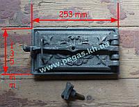 Дверка поддувальная чугунное литье (135х250 мм), фото 1