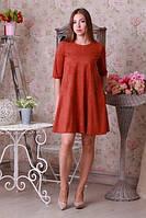 Женское платье с пришывным декором