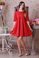 Красивое коралловое женское платье
