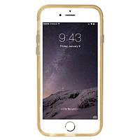 Чехол Baseus Golden для Iphone 6/6S Plus прозрачно-золотой, фото 1