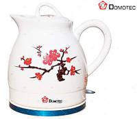 Керамический электро чайник Domotec DT-121, товары для кухни, стильный дизайн, бытовая техника для кухни