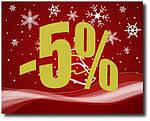 Внимание! Скидка 5% на весь ассортимент магазина! Спешите только до 1 января!