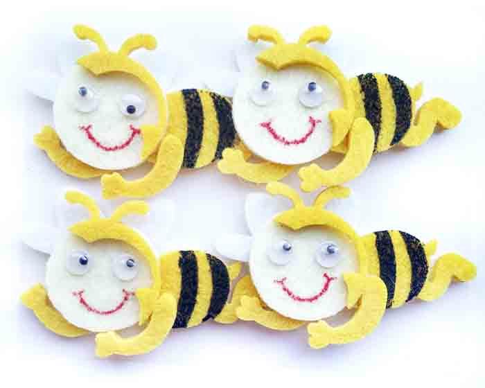 Пчелки (6 см, 4 шт)