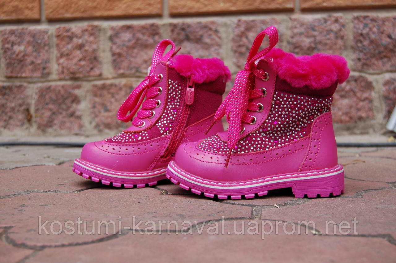 Ботинки зимние для девочки 25 - 28 р, фото 1