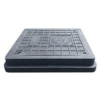 Люк квадратный 40х45 облегченный (черный) до 1,5т Руслана