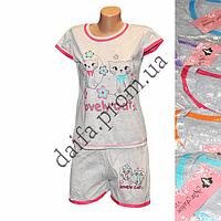 Женская котоновая пижама V23V  оптом со склада в Одессе.